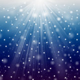 Snow and star Royalty Free Stock Photos