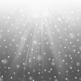 Snow and star Stock Photography