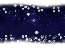 Snow and star background Royalty Free Stock Images