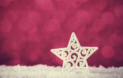 Snow star Stock Image