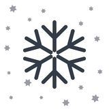 Snow star icon stock illustration