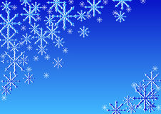 SNOW STARS. SNOW CRYSTALS; CHRISTMAS BACKGROUND PICTURE; BLUE vector illustration