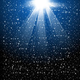 Snow and stars are falling Royalty Free Stock Photography