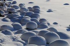 Snow cobblestone stock photography