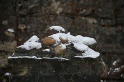 Snow On Stones Stock Photography
