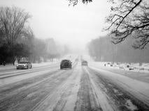 Snow storm stock photo