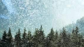 Snow storm. In High mountains, Bohemia Royalty Free Stock Photography