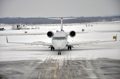 Snow Storm on the airport Royalty Free Stock Photos