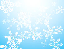 Snow Storm Background. Snowstorm background image with falling mixed snowflakes Stock Photography