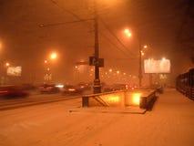 Snow-storm do inverno Fotos de Stock Royalty Free