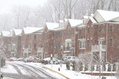 Snow storm in Fairfax Stock Photo