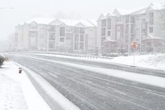 Snow storm in Fairfax Stock Photography