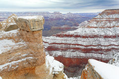 After Snow Storm, Grand Canyon, AZ Stock Photo