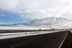 Snow Storm Highway Royalty Free Stock Image