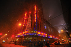 Snow Storm In Radio City Music Hall, Nyc Royalty Free Stock Photography