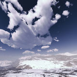 Snow storm in the mountains. Winter day Stock Images