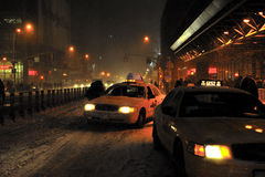 Snow storm in new york Stock Photography
