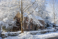 After snow storm, Newbury, MA Royalty Free Stock Photography