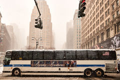 Snow storm Niko in New York City February 9th, 2017 Royalty Free Stock Photography