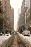 Snow storm Niko in New York City February 9th, 2017 Stock Photo