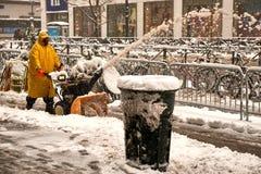 Snow storm Niko in New York City February 9th, 2017 Royalty Free Stock Photos