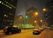 Snow storm in nyc Royalty Free Stock Photography