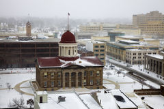 Snow storm by Old State Capitol. Springfield, Illinois - snow storm by Old State Capitol Royalty Free Stock Photos
