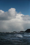Snow storm over the sea Stock Photos