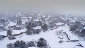 Snow storm in Sedona stock footage
