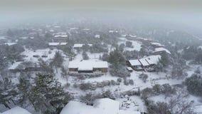 Snow storm in Sedona stock video