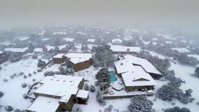 Snow storm in Sedona stock video footage