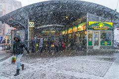 Snow storm in St. Petersburg Royalty Free Stock Photo
