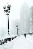Snow storm in the Ukrainian capital Royalty Free Stock Photos