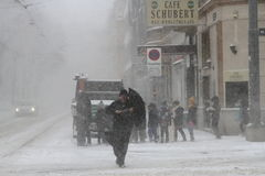 Snow Storm in Vienna Stock Image