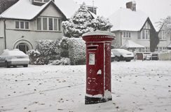 Snow in the street of London royalty free stock photography