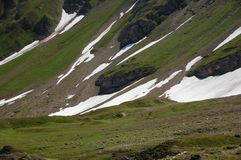 Snow in summer Stock Photography