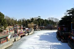 Snow in the Summer Palace Stock Photo