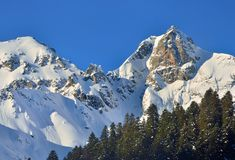 Snow summits Stock Images