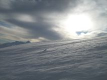 Snow and sun Royalty Free Stock Photos