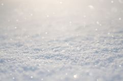 Snow at the sun background royalty free stock photos
