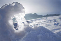 Snow and Sunlight Stock Photography