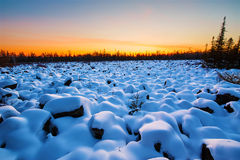 After snow and sunset glow Stock Image