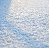 Snow surface. Frozen snowy earth surface at the morning Royalty Free Stock Image