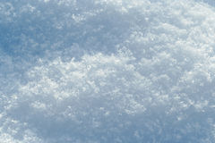 Snow surface. With visible snowflakes texture Royalty Free Stock Image