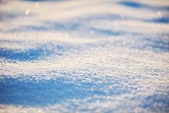 Snow surface close-up Stock Photography