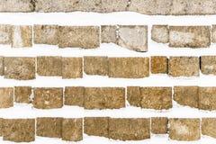 Snow swatch wall Stock Photo