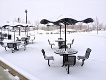 Snow tables Royalty Free Stock Photography