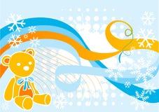 Snow teddy. Vector illustration snow and teddy bear Royalty Free Stock Photos