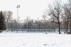 Snow tennis court Royalty Free Stock Photography