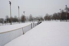 Snow Tennis Today Stock Photos